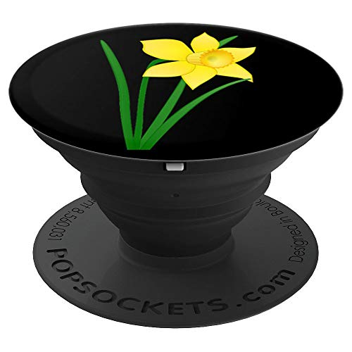 Golden daffodil flower - PopSockets Grip and Stand for Phones and Tablets