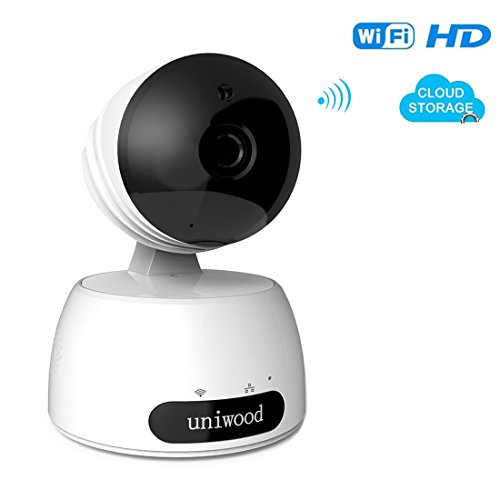 uniwood WiFi Baby Monitor Camera, 1080P HD Surveillance Cams with High Motion Detection, Two Way Talk Indoor Pet Camera Monitorning System Viewer by uniwood