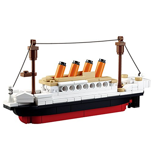 SuSenGo Building Blocks Titanic ShipBoat 3D Model Educational Gift Toys for Children 194PCS