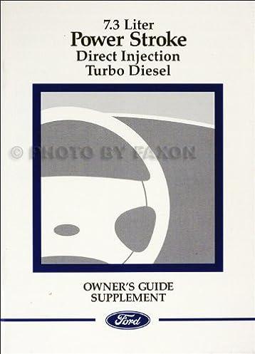 1999 ford 7 3l powerstroke diesel engine owner s manual original rh amazon com 99 F350 Fuse Diagram 99 f350 7.3 owners manual