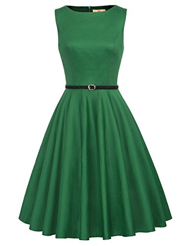 GRACE KARIN Women Vintage Dress Evening Party Dress Green Size L F-62