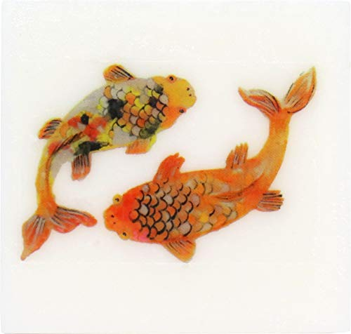 Peppermint Bark Scented Glycerin Soap with Koi Fish Design