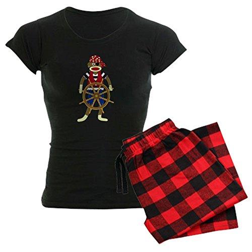 CafePress - Sock Monkey Pirate Women's Dark Pajamas