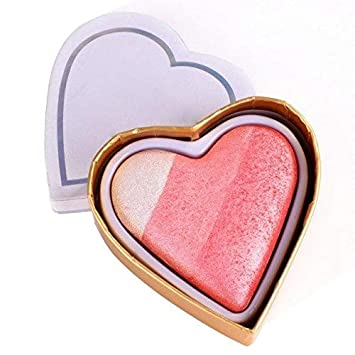 540ece09380c Amazon.com : Highlight Heart Shaped Blush - GA0215A4 : Beauty