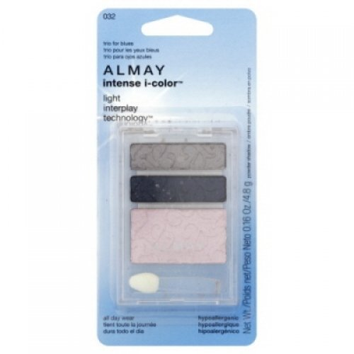 Almay Intense I-color Powder Shadow, Trio for Blues 032 , 0.16 Oz (4.8g), 1 Ea
