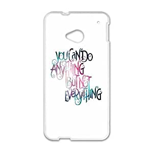 HTC One M7 Cell Phone Case White quotes anything but not everything JNR2247342