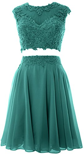 Party Homecoming Prom 2 Wedding Women Dress MACloth Vintage Oasis Lace Gown Piece zXfFpB