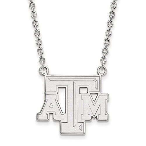 925 Sterling Silver Officially Licensed Texas A&M University College Large Pendant with Necklace (18 in x 1.95 mm) by Unknown