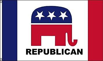 AZ FLAG Bandera del Partido Republicano DE Estados Unidos Nuevo 150x90cm - Bandera Republicana Americana 90 x 150 cm: Amazon.es: Hogar