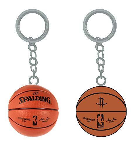 (PSG INC NBA Houston Rockets Sports Team Logo Mini Basketball Keychains )