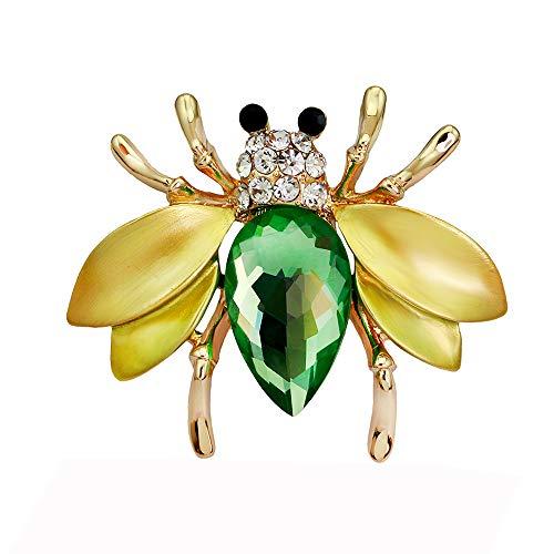 - Teardrop Crystal Brooch Bee Rhinestone Bouquet Brooch Pin