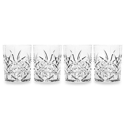 James Scott Double Old Fashioned Crystal Drinking Glasses Set, Irish Cut Design - Set of 4 - 8 Oz by James Scott (Image #5)