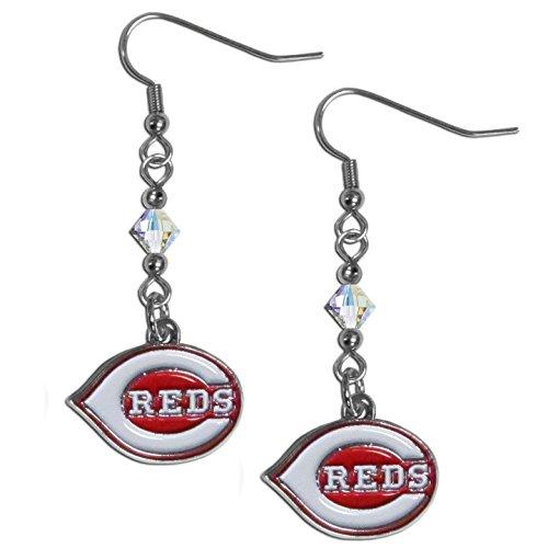 Cincinnati Reds Mlb Crystal (MLB Cincinnati Reds Women's Crystal Dangle)