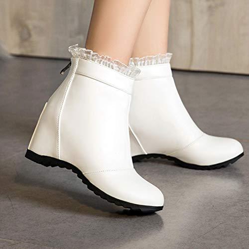 HRCxue Pumps Weiße Weiße Weiße Kurze Stiefel, Kinder, süße Dame, runder Kopf, wild 2756c5