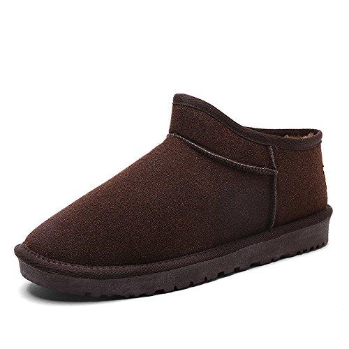 cotone slittamento Brown di scarpe di di inverno Boots caldo C velluto British Snow trend plus WPaznnwgq