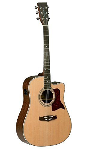 Tanglewood All-Solid Wood Dreadnought Acoustic Guitar with Solid Spruce Top, Solid Mahogany Back & Sides (TW15-NS-CE)