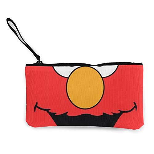 Elmo Sesame Street Canvas - Sesame Street Elmo Face Womens Canvas Coin Purse Mini Change Wallet Pouch-Card Holder Phone Wallet Storage Bag,Pencil Pen Case