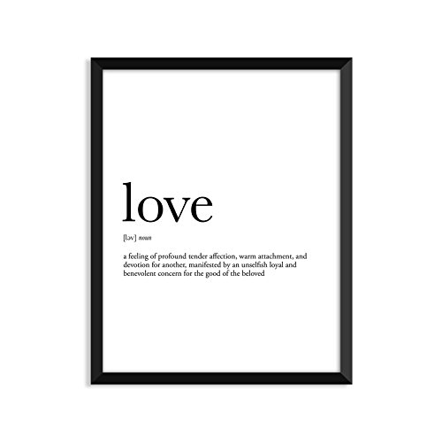 Love Definition   Unframed Art Print Poster Or Greeting Card