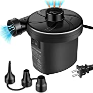 semai Electric Air Pump Portable Quick-Fill Air Pump for Inflatable Couch, Air Mattress, Swimming Ring, Inflat