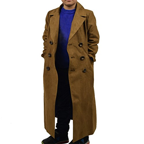 YANGGO Children's Party Halloween Outfit Cloak and Trench Coat Costume (X-Small, Brown Trench Coat) by YANGGO (Image #4)