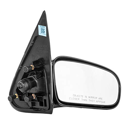 Dependable Direct Right Passenger Side Unpainted Non-Heated Folding Door Mirror for Chevy Cavalier, Pontiac Sunfire Sedan (1995 1996 1997 1998 1999 2000 2001 2002 2003 2004 2005) - GM1321168