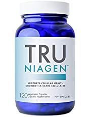 TRU NIAGEN (Nicotinamide Riboside) - Trusted NAD+ Supplement for Supporting Cellular Health & Energy Metabolism to Maintain Good Health   Vitamin B3   150mg Vegetarian Capsules, 300mg Per Serving - 60 Day Supply (1 Bottle)