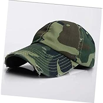 5d915c2fa359f3 Camo Vintage Distressed 100% Cotton Solid Polo Denim Baseball Cap Hat Ball  Dad Washed