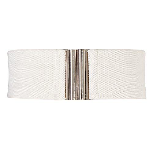 Ladies Designer Belts (Grace Karin Women Designer Metal Buckle Elastic Waist Cinch)