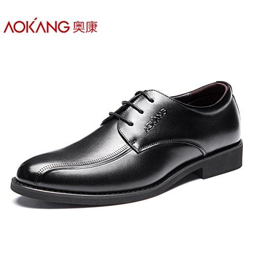 aemember un grande numero di scarpe per uomini i completi per uomini e scarpe di lavoro versatile, 46, Nero