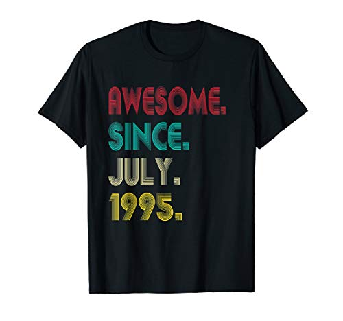 Awesome Since July 1995 Shirt 24th Birthday Gifts 24 Yrs Old