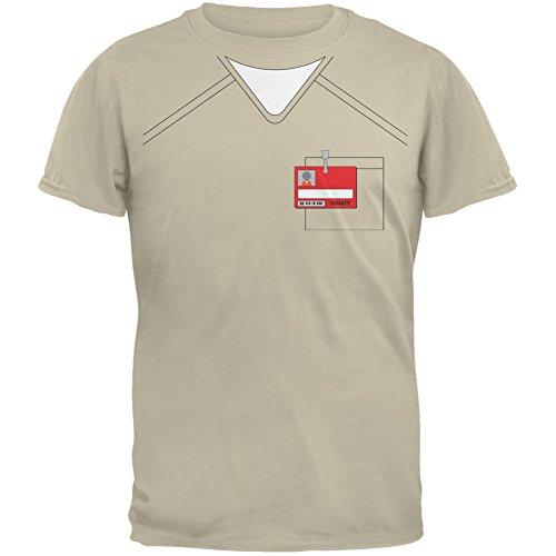 Prisoner Uniform Costume Beige Adult T-Shirt - X-Large