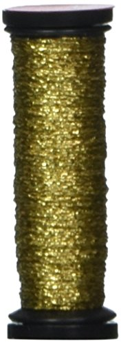 Kreinik No.4 Very Fine Metallic Craft Braid, 12-Yard, Gold Hi Lustre