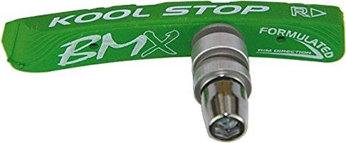 Kool Stop BMX Brake Shoes, Nutted - 1 Par, Hot Lime Green
