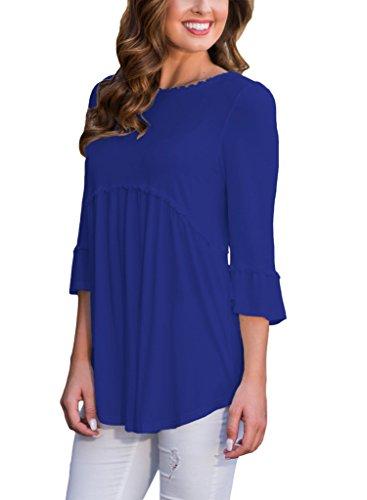 HOTAPEI Womens Sleeve Shirts Blouses