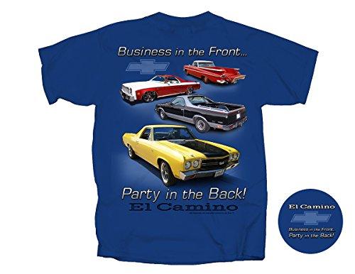 Joe Blow El Camino Party in Back Adult T-Shirt, X-Large, Metro Blue