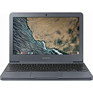"Samsung Chromebook 3 XE501C13-K02US, Intel Dual-Core Celeron N3060, 11.6"" HD, 4GB DDR3, 32GB eMMC, Night Charcoal"