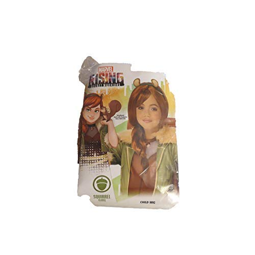 Rising Secret Warriors Squirrel Girl Child Wig Costume Accessory OSFM ()