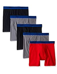 Fruit of the Loom boys Big Boys 5 Pack Sport Boxer Brief