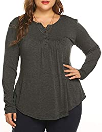 6da4fb2db40 Women s Plus Henley Shirts