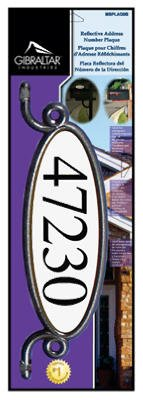 Solar Group MBPLAQ0B House Address Number Plaque Kit or Kitchen For Mailbox or Post, Reflective - Quantity 6