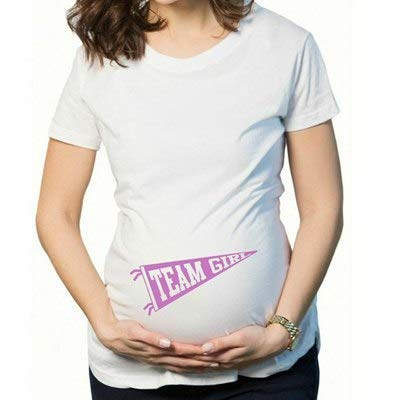 cfc5606ee185c Casual Pregnant Maternity t Shirts Soft Cotton Funny Pregnant Maternity  Shirts Tops Letter Short Sleeves Pregnant Clothes:20, S: Amazon.in: Baby