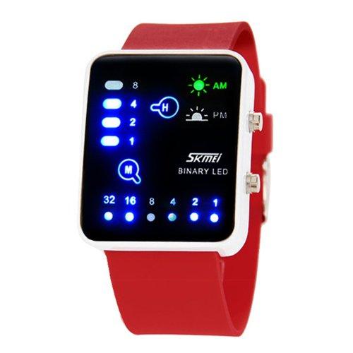 Jk Skmei Binary LED Waterproof Sports Watch