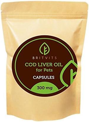 Aceite de hígado de bacalao para gatos y perros, 300 mg x 250 cápsulas