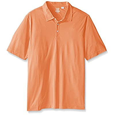 Cutter & Buck Men's Big Cb Drytec Blaine Oxford Polo, Orange Burst/White, 4X/Tall: Clothing