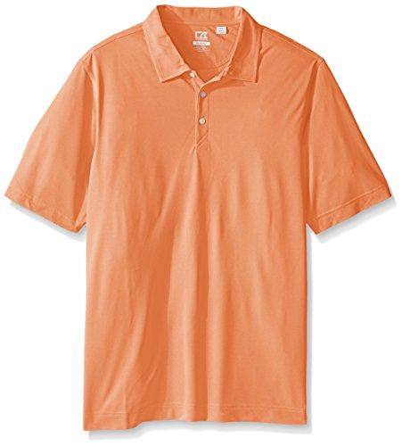 Cutter & Buck Men's Big and Tall Cb Drytec Blaine Oxford Polo, Orange Burst/White, 4X