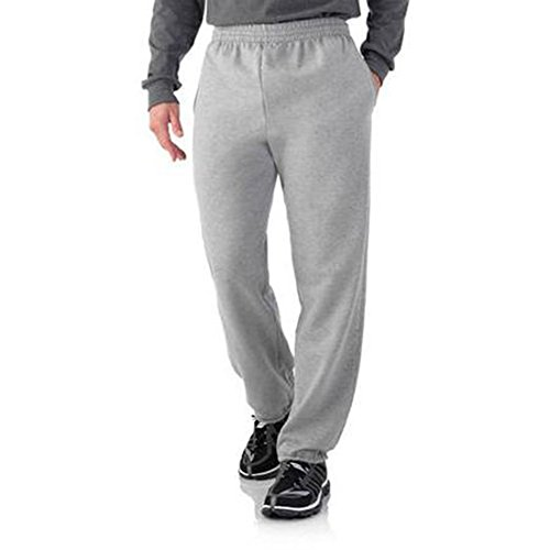 Elastic Cuff Pants (Fruit of the Loom Mens Elastic Bottom Sweatpant (Small, Steel Grey))