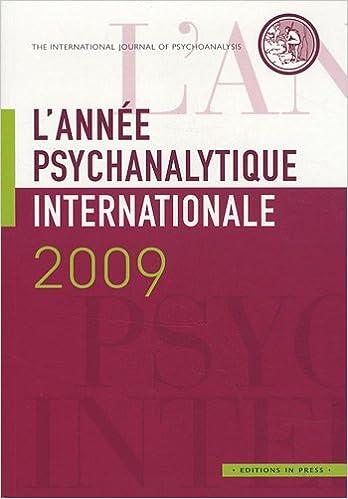 Lire en ligne L'année psychanalytique internationale, 2009 : pdf ebook