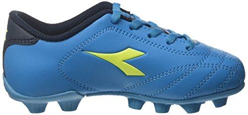 Diadora 6play MD Jr, Zapatillas de Fútbol Para Niños Azul (Blu Fluo/giallo Fluo)
