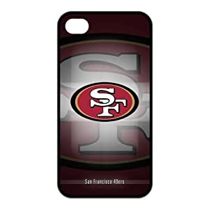 Fashion San Francisco 49ers Personalized iPhone 4 4S Rubber Silicone Case Cover -CCINO