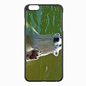 iPhone 6 Plus Black Hardshell Case 5.5inch - water foot wet Desin Images Protector Back Cover